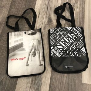 LuLuLemon Exercise Reusable Nylon Black Bags